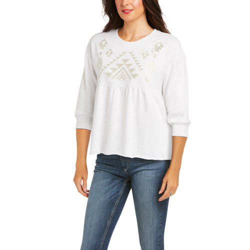 Ariat Womens Egret Cheers Pullover