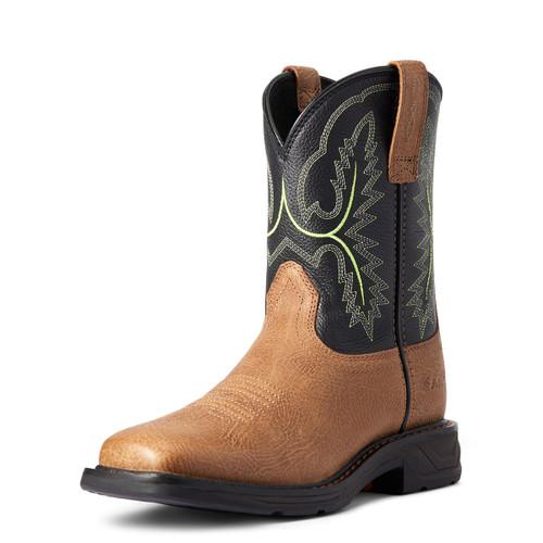 Ariat Boys Bark and Black Forest Workhog XT Cowboy Boot