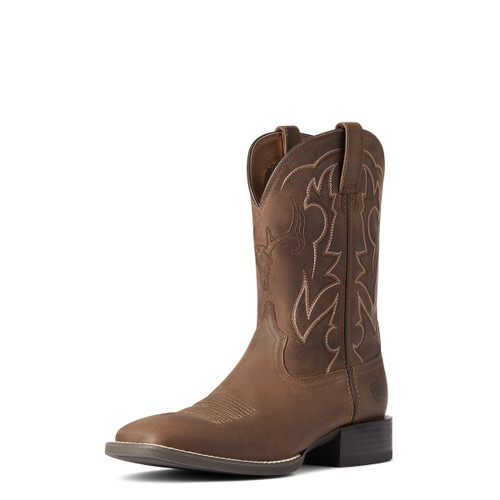 Ariat Mens Distressed Brown Outdoor Western Boot