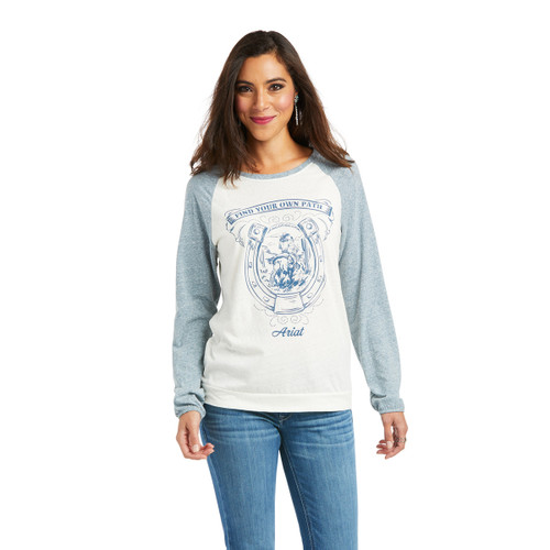 Ariat Womens Find Your Own Path Multi Long Sleeve Baseball Tee