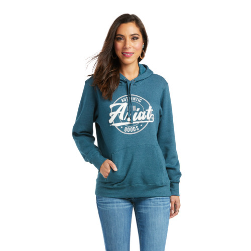 Ariat Womens R.E.A.L. Graphic Teal Hoodie