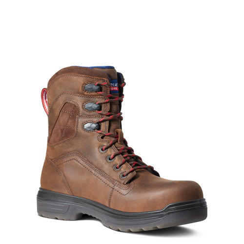 """Ariat Mens Turbo 8"""" USA Assembled H2O Carbon Toe Pull On Work Boots"""