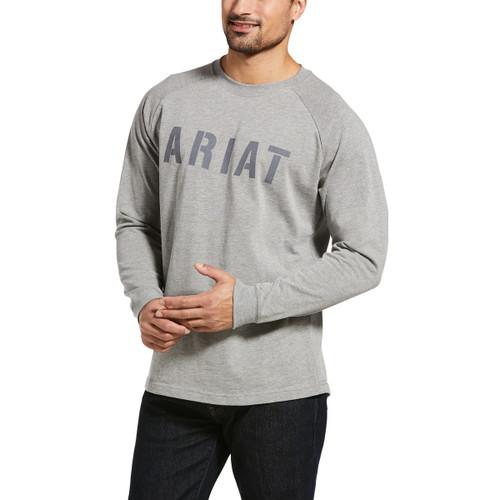 Ariat Mens CottonStrong Block Long Sleeve T-Shirt