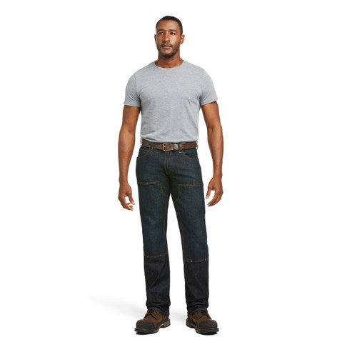 Ariat Mens Rebar M5 DuraStretch Basic Double Front Stackable Straight Leg Jean