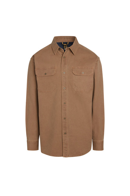 Noble Outfitters Mens FullFlexx Long Sleeve Heavy Canvas Weathered Work Shirt