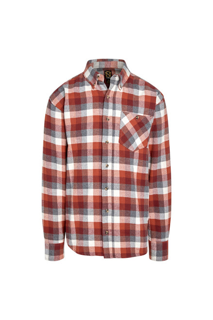 Noble Outfitters Mens Brawny Button Front Flannel Long Sleeve Shirt