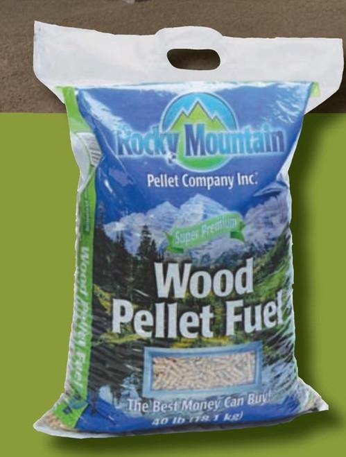 Rocky Mountain Wood Pellet Fuel - 40 lbs