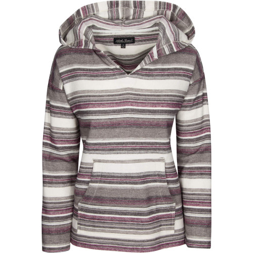 North River Womens Heavy Weight Twill V-Neck Hoodie