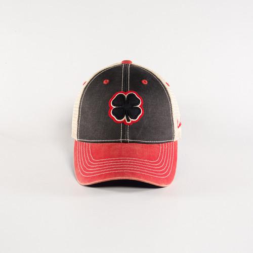 Black Clover Mens Two-Tone Vintage 4 Adjustable Cap