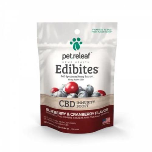 Pet Releaf CBD Blueberry & Cranberry Flavor Immunity Chews for Dogs