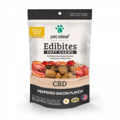Pet Releaf CBD Peppered Bacon Chews for Dogs
