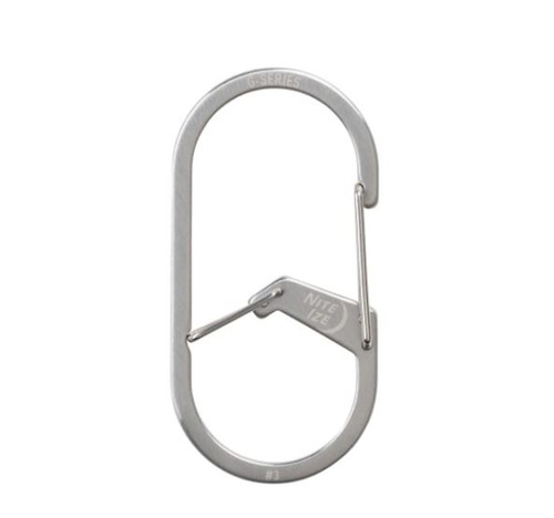Nite Ize G-Series Dual Chamber Carabiner- Stainless Steel