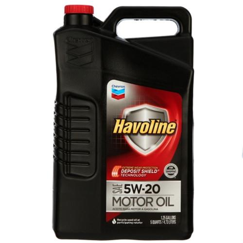 Chevron Havoline Motor Oil 5W-20 5 Quart