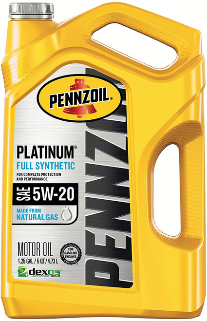 Pennzoil Platinum Full Synthetic 5W-30 Motor Oil- 5 Quart
