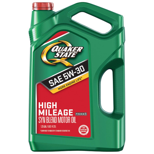 Quaker State High Mileage 5W-30 Synthetic Blend Motor Oil- 5 Quart