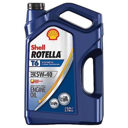 Shell Rotella T6 5W-40 Full Synthetic Heavy Duty Diesel Engine Oil- 1 Gallon