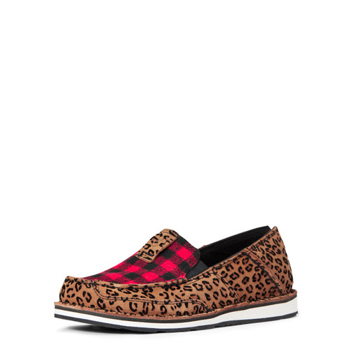 Ariat Womens Leopared With Red Buffalo Plaid Cruiser