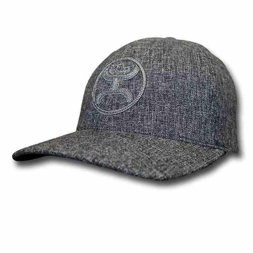 "Hooey- Mens ""Flint"" Grey Flexfit Hat"