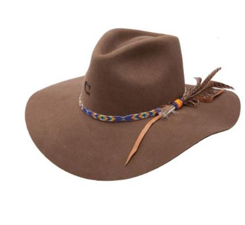 Charlie 1 Horse Womens Gypsy Floppy Felt Hat Brown