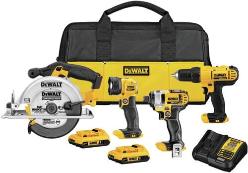 DeWALT 20V Cordless 4-Tool Combo Kit
