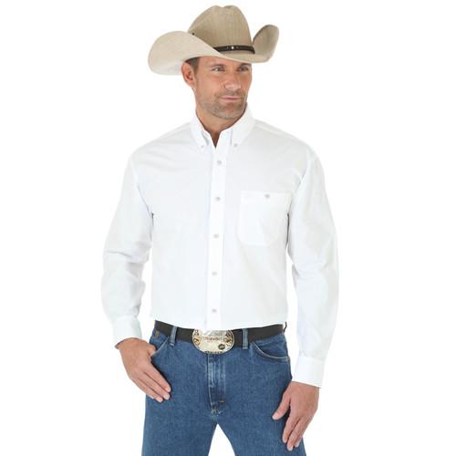 Wrangler Mens George Straight Long Sleeve Shirt