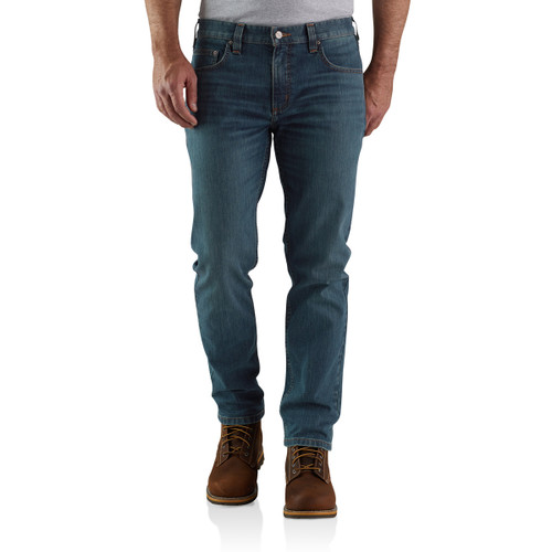 Carhartt Mens Rugged Flex Relaxed Fit Low Rise 5-Pocket Tapered Jean