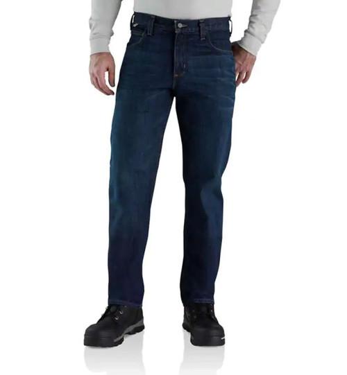 Carhartt Mens Flame-Resistant Rugged Flex Straight Fit 5 Pocket Jean - Midnight
