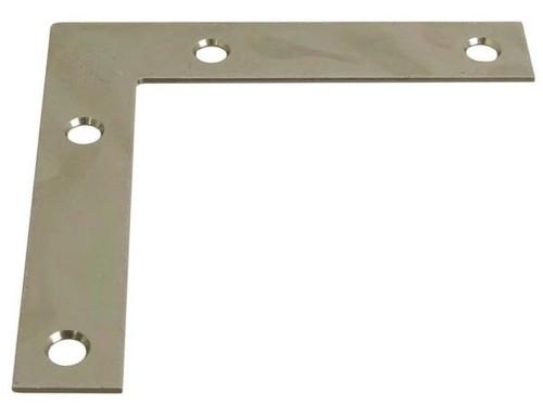"National Hardware 4 x 1/2"" Zinc Plated Flat Corner Brace"