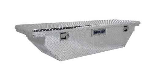 """Better Built 63"""" Aluminum Crossover Low Profile Wedge Truck Tool Box- Silver"""