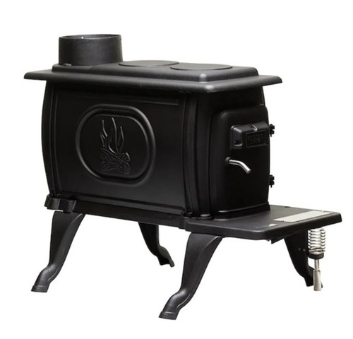 US Stove 900 Sq. Ft. Small Cast Iron Wood Stove - 2020 EPA Certified