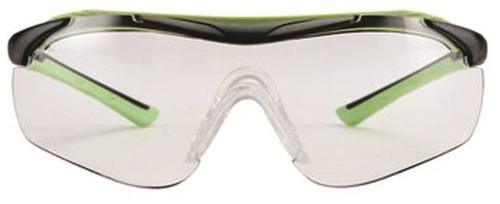 3M Multi-Purpose Performance Sport Inspired Safety Eyewear, Clear Lens, Black/Green