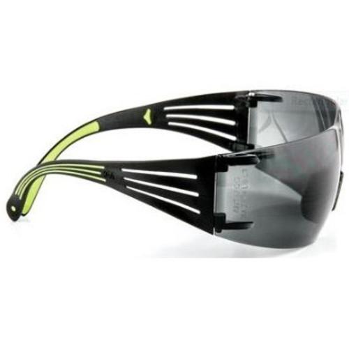 3M Impact Safety Glasses, Anti-Fog/Anti-Scratch, Gray Lens, Neon Green/Black