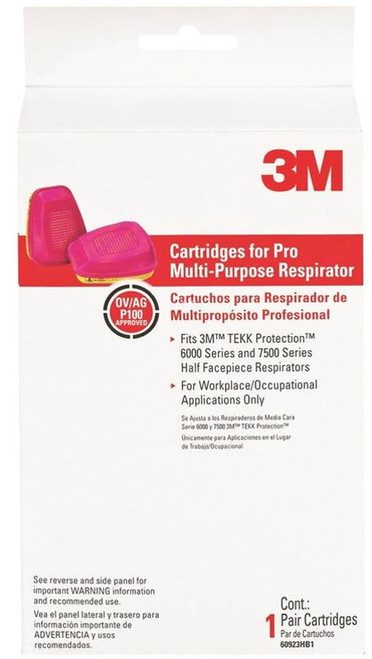 TEKK Protection Replacement Cartridge, For Use With 3M 6000 and 7500 Series Half Facepiece Respirators