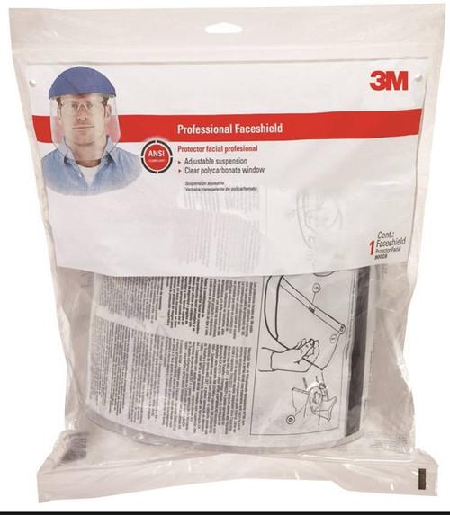 Tekk Protection Professional Faceshield Polycarbonate Visor, Thermoplastic, Clear/Blue Cap