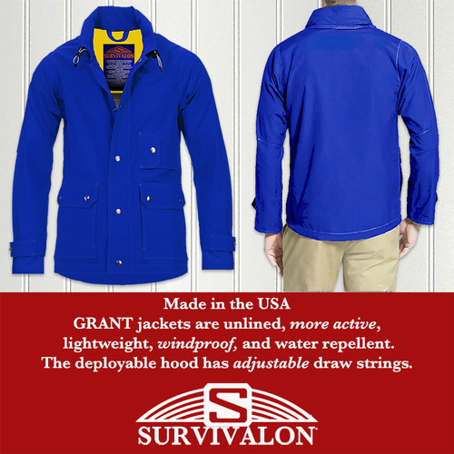 SURVIVALON® GRANT jackets are more active; like wearing a shirt with 6 pockets; lightweight, windproof and water repellent.