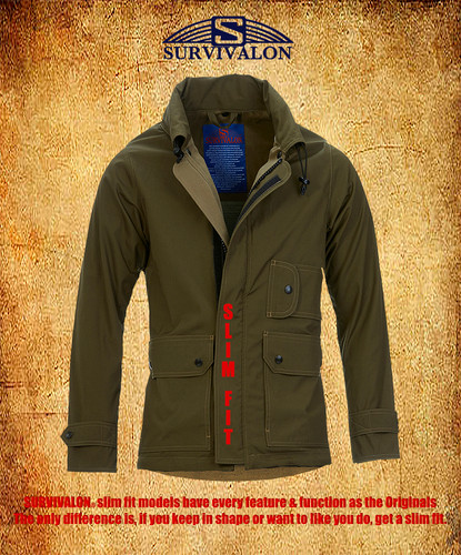 SURVIVALON® slim fit models have every feature & function as the Originals  The only difference is, if you keep in shape or want to like you do, get a slim fit.