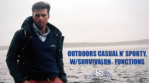 "Outdoor, casual n""sporty, jackets made in the USA by SURVIVALON®"