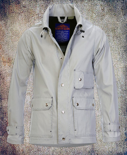 Unlined silver jacket, a perfect lightweight shell for spring