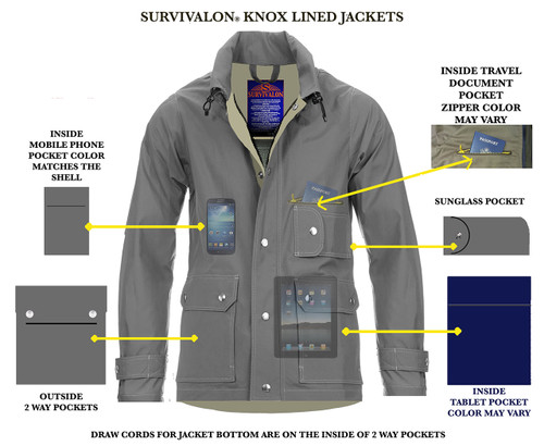 Conceal your personal items when traveling and outdoors. ​https://www.survivalon-llc.com/knox-jackets-regular-fit-lined-jackets/