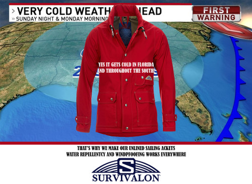 Yes, it does get cold in Florida and throughout the southern US. Here are real jackets with honest well made functions. Water repellent and windproof.