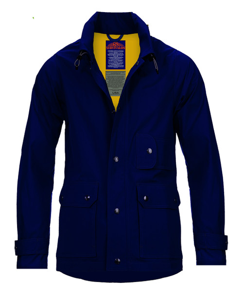 NAVY the #1 classic jacket can coordinate with any color bottoms/tops. All unlined jacket have a wide temperature range. Windproof and breathable, just add layers if the weather cools down.