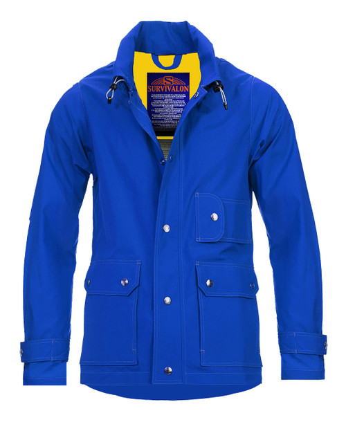 Our bright blue stands out showing good taste with self confidence.  All unlined jackets are great with shorts in warm weather.