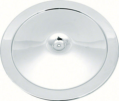 """14"""" Open Element Chrome Air Cleaner Lid with Square Imprint"""