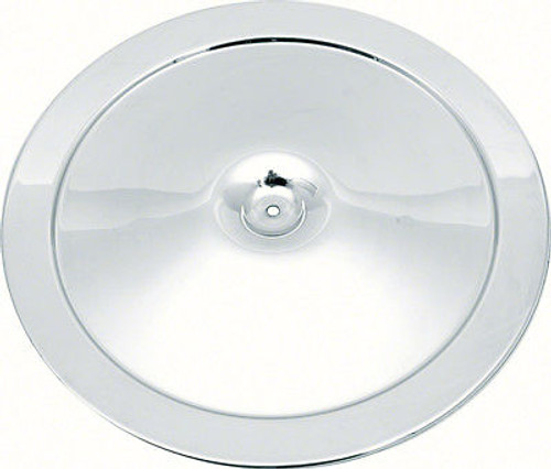 """14"""" Open Element Chrome Air Cleaner Lid  with Curved Imprint"""
