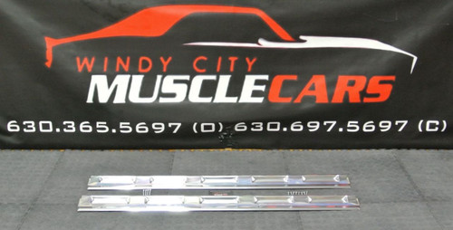 1970-74 Dodge Challenger Door Sill Finish Scuff Plates 2879600 (2) MADE IN USA