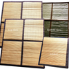 Each Convertible Radiant sauna tent purchase includes two bamboo floor mats with organic cotton canvas trim and radiant material backing. Just one bamboo mat will cover the floor when the tent is setup for the standing or sitting sauna positions. Use the extra mat to cover the entire tent floor in the lying down position.