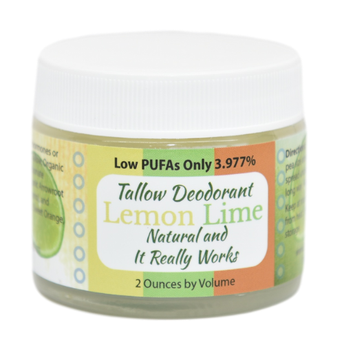 Lemon Lime Scent - Tallow Deodorant at WSO