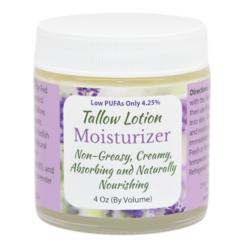 Tallow Lotion Moisturizer 4 oz at Wellness Shopping Online