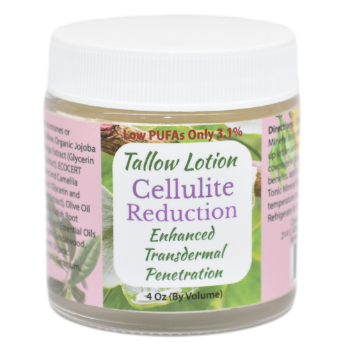 Tallow Lotion Cellulite Reduction 4 oz at Wellness Shopping Online