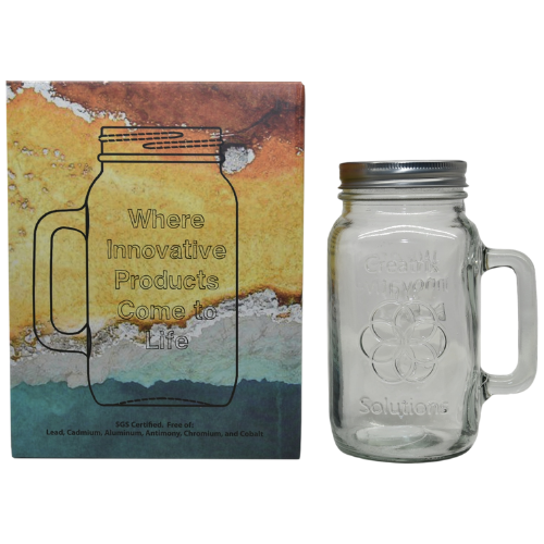 Non-Toxic Mason Jar 1 Liter Mug with Lid at WSO